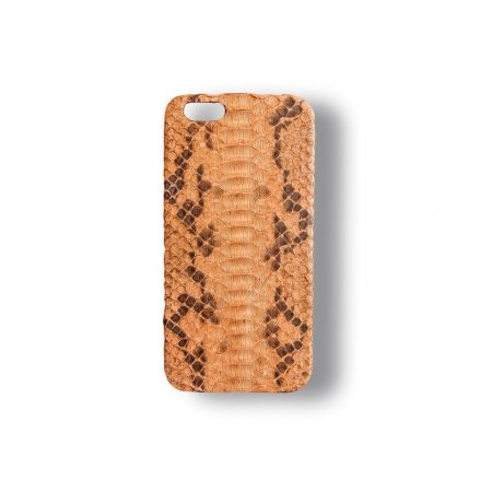 FUNDA IPHONE 6 Y 6S NARANJA-MARRÓN